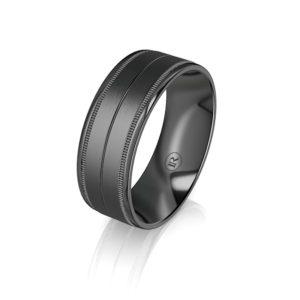 black zirconium wedding bands
