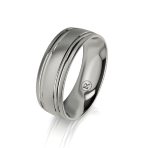 Mens titanium ring