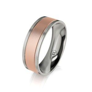 Titanium wedding rings for him