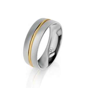 Silver wedding ring for him